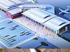 黄花国际机场新航站楼进入钢结构施工